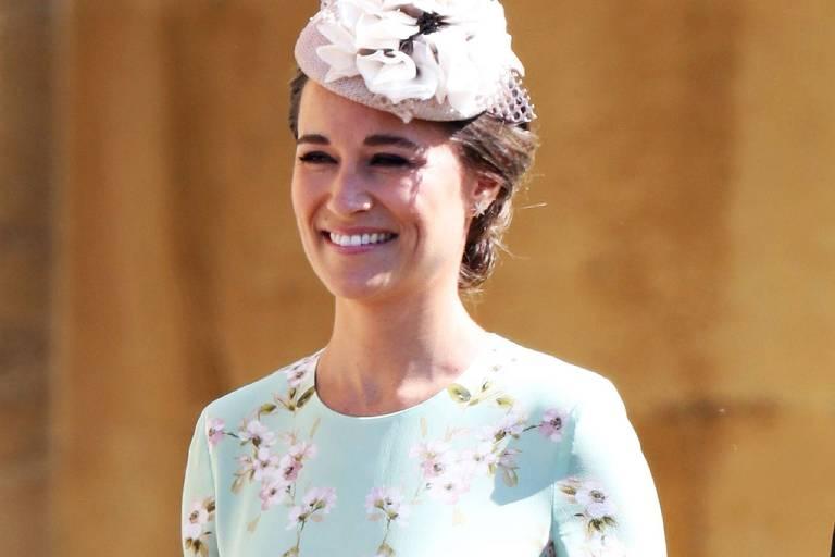 Pippa Middleton no casamento de príncipe Harry e Meghan Markle
