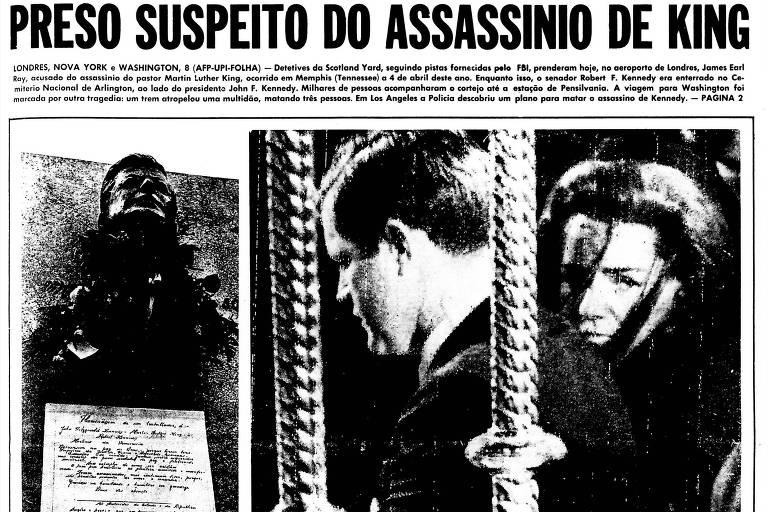 1968: Scotland Yard prende o acusado do assassinato de Martin Luther King