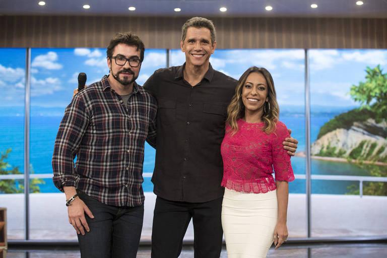 Márcio Garcia recebe as famílias do Padre Fabio de Melo e da atriz Samanta Schmutz no último programa desta temporada