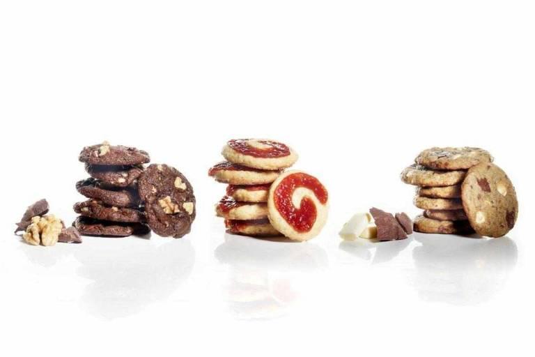 Cookies de chocolate com nozes, goiabada e triple chocolate da Lu Bonometti Biscotti & Dolcezze