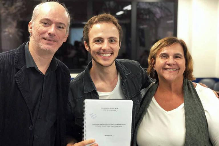 Miguel Roncato conclui faculdade de jornalismo