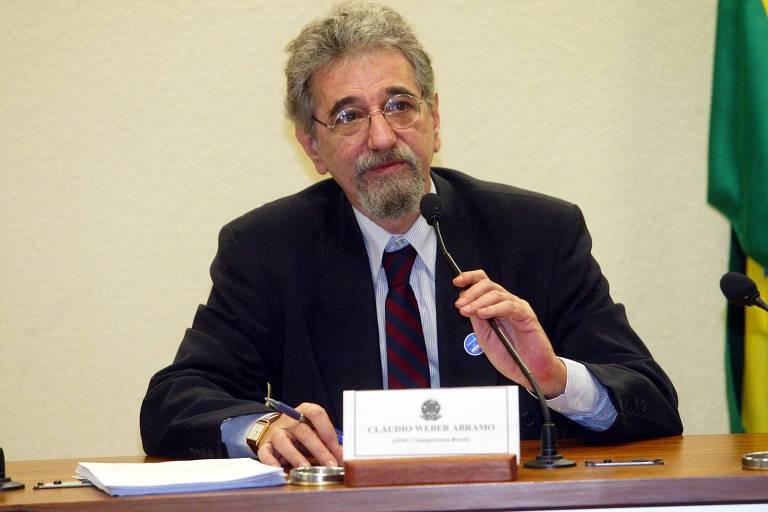 O jornalista Cláudio Weber Abramo, especialista em combate à corrupção