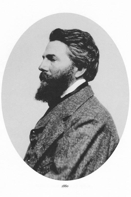 Escritor americano Herman Melville, em retrato de 1860, de autoria desconhecida