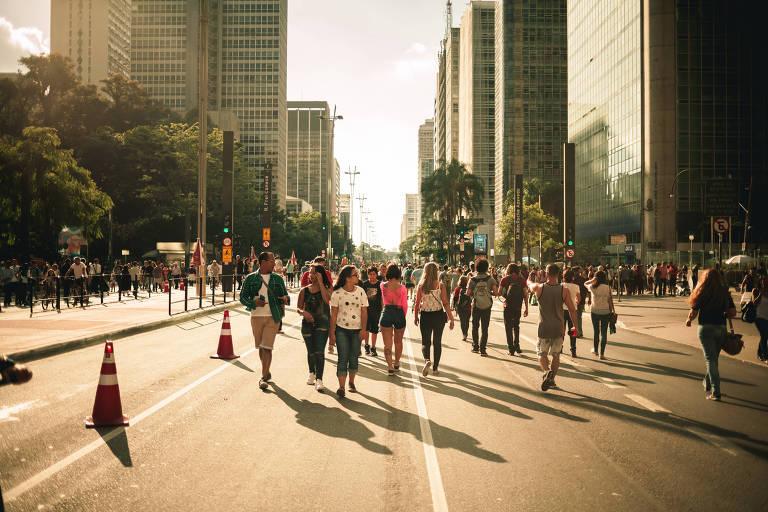 Movimentação da Paulista em um domingo