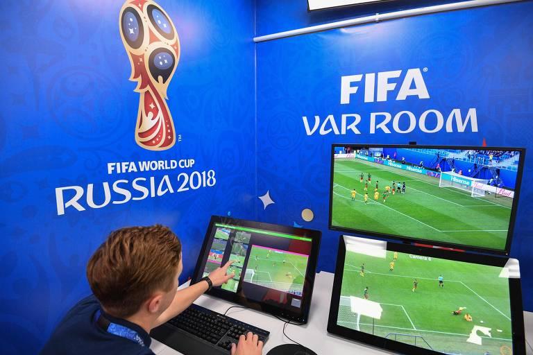 A sala da videoarbitragem