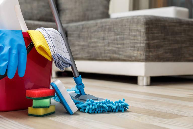 Arsenal de limpeza para casa