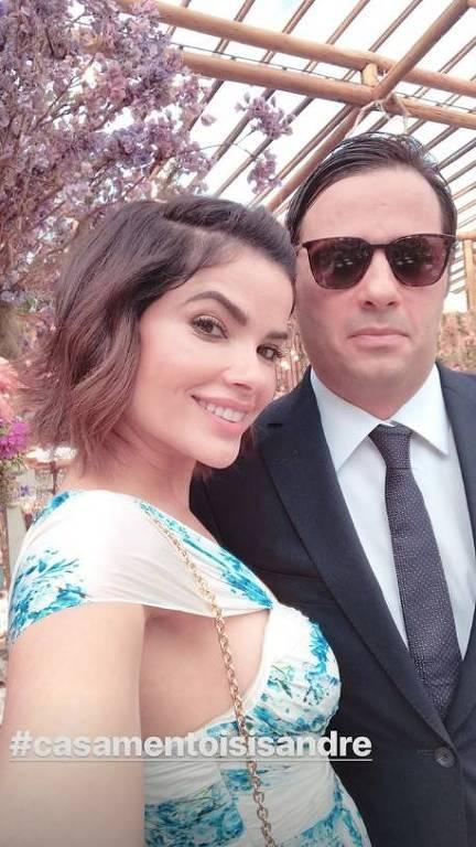 Vanessa Giácomo em casamento de Isis Valverde