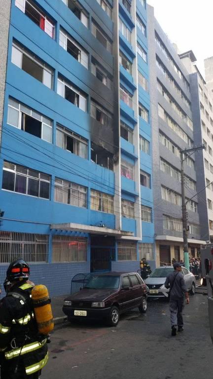 Incêndio em prédio na Sé