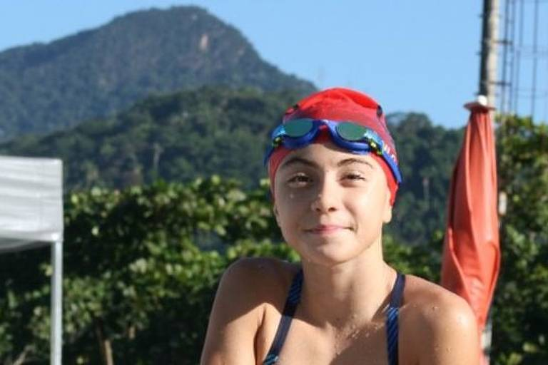 A jovem nadadora Rani Jordão Ganime