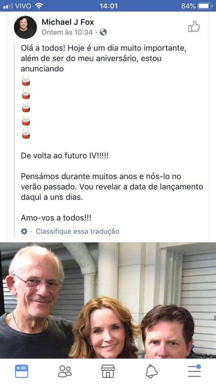 """Anúncio falso da volta de """"De Volta para o Futuro"""" aos cinemas"""