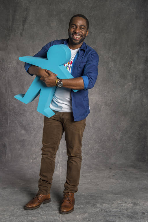 Lázaro Ramos na campanha do Criança Esperança 2018