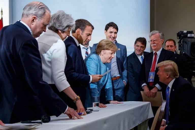 Angela Merkel ao longo dos anos