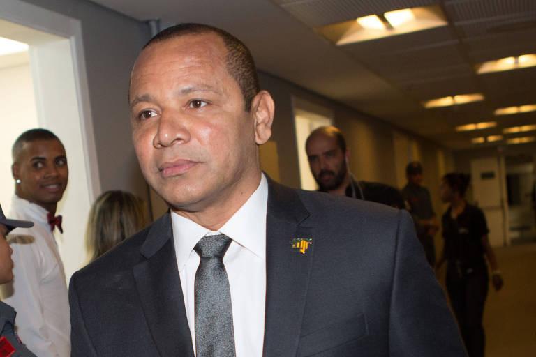 Neymar da Silva Santos, pai do jogador Neymar, em evento do Instituto Neymar Jr.