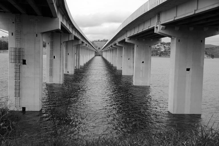 Represa Atibainha, do sistema Cantareira, em Nazaré Paulista (SP)