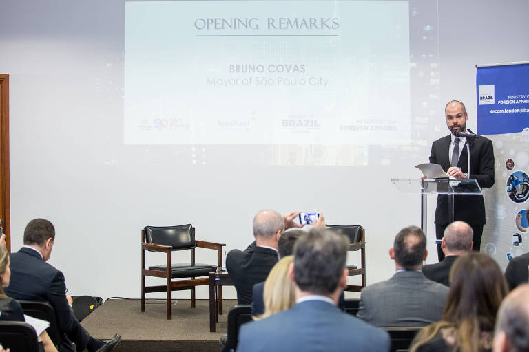 Bruno Covas, prefeito de São Paulo, na Embaixada do Brasil em Londres