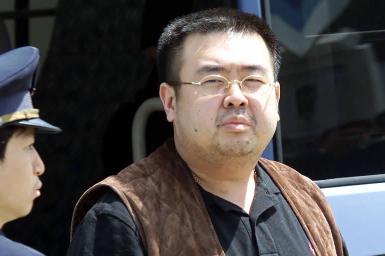 O meio-irmão do ditador Kim Jong-un, Kim Jong-nam, em foto de 2001; ele foi morto em 2017