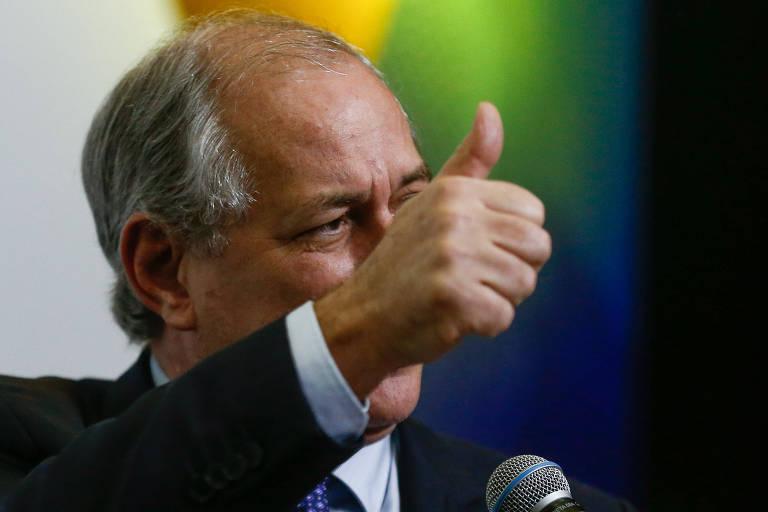 O pré-candidato do PDT a presidente, Ciro Gomes, em Brasília