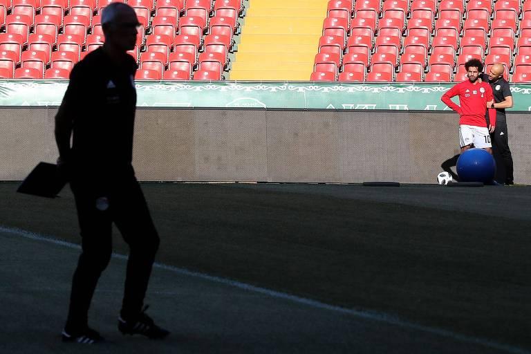 Salah ainda treina separado dos colegas do Egito
