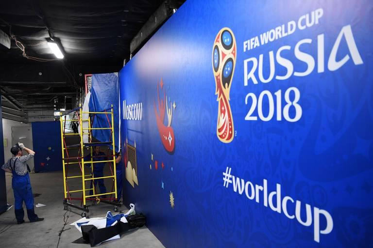 Preparativos para a inauguração da Copa do Mundo
