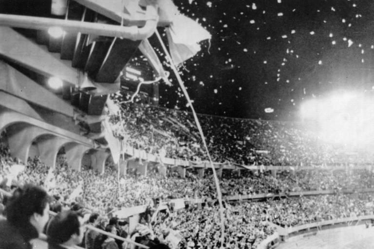 Estádio do River Plate durante partida entre Argentina e Hungria