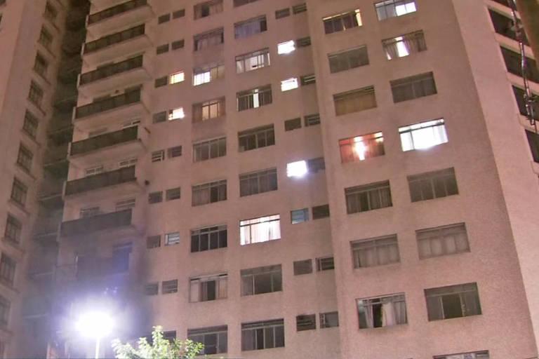 Incêndio atinge apartamento no centro de São Paulo