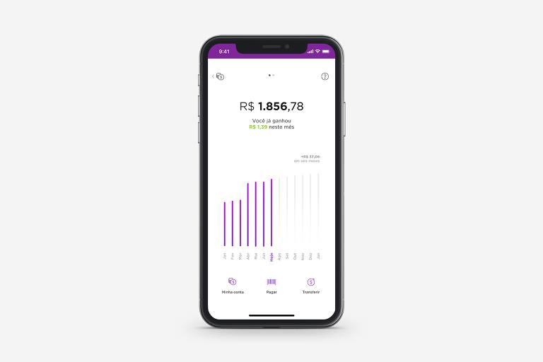 Aplicativo da fintech Nubank