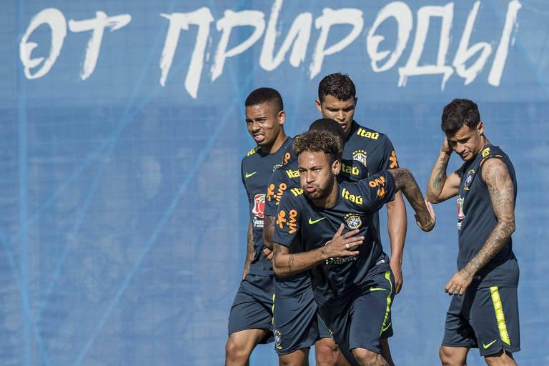 Segundo treino da seleção brasileira em Sochi