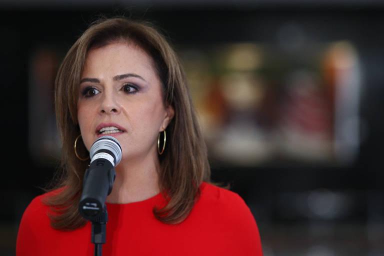 A ex-primeira-dama de El Salvador, Vanda Pignato, durante visita a Dilma Rousseff em 2013