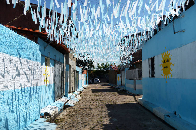 Brasileiros fazem homenagem a Argentina