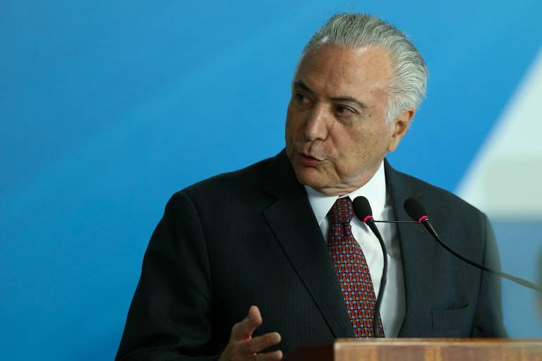 O presidente Michel Temer durante anúncio da ampliação dos saques do PIS/Pasep