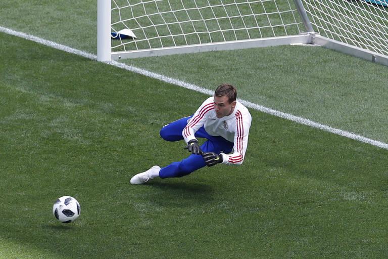 Rússia e Arábia Saudita fazem último treino antes da abertura da Copa