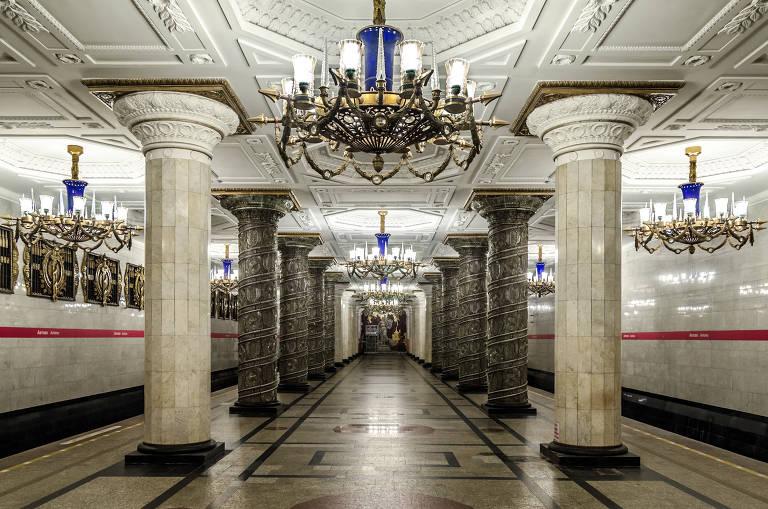Estações de metrô para conhecer na Rússia