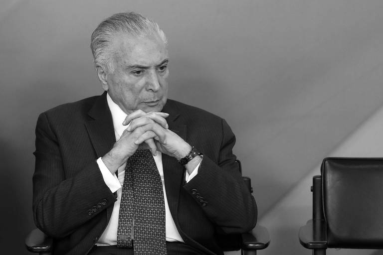 O presidente da República, Michel Temer, durante cerimônia no Palácio do Planalto, em Brasília