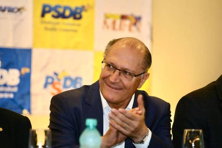 O  pré-candidato à Presidência Geraldo Alckmin (PSDB), que busca alianças em Brasília