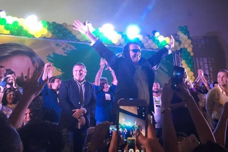 O pré-candidato do PSL à Presidência, Jair Bolsonaro, durante evento em São Luís, no Maranhão
