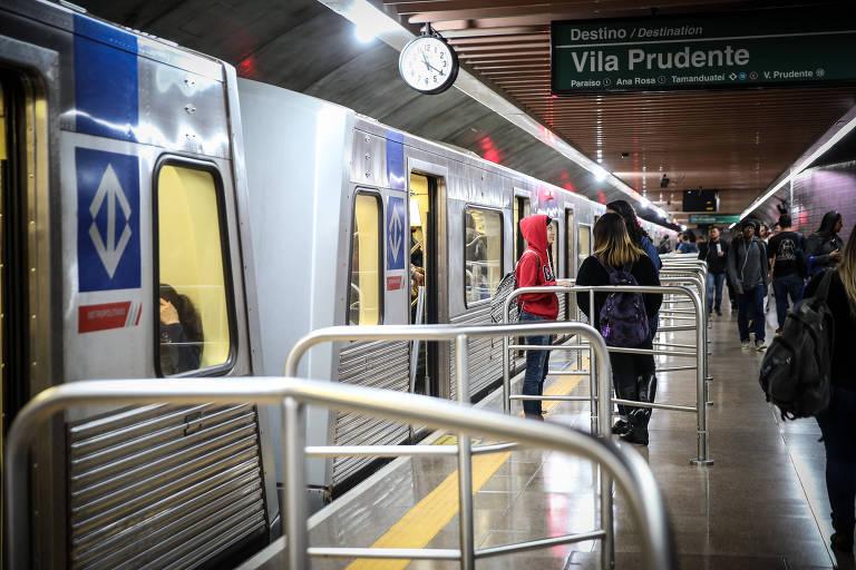 Uma das estações da Linha Verde do Metrô, em São Paulo