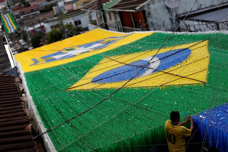 Brasil decorado para a Copa da Rússia