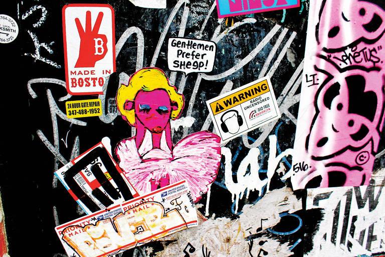 Grafite no Bushwick, bairro do Brooklyn