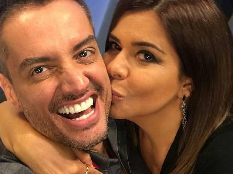 Leo Dias e Mara Maravilha, apresentadores do Fofocalizando (SBT)