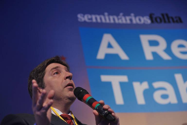Guilherme Feliciano, presidente da Anamatra, durante seminário sobre reforma trabalhista promovido pela Folha