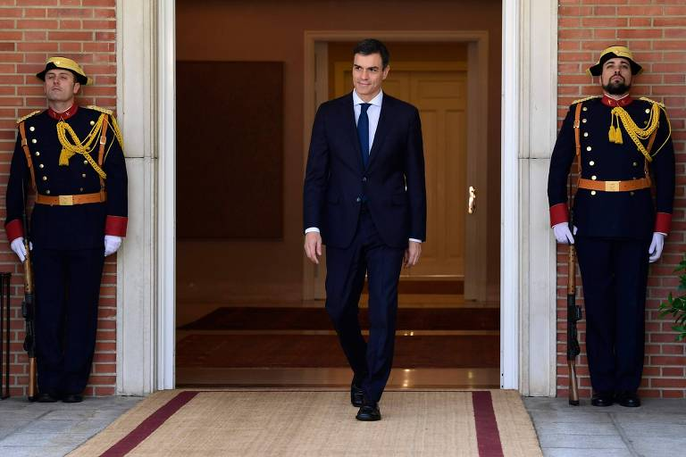O primeiro-ministro da Espanha, Pedro Sanchez, em Madri