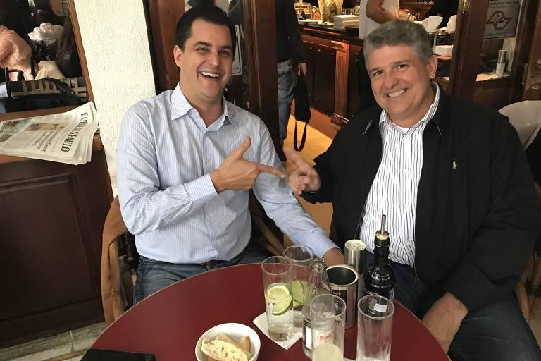 Os primos Frederico D'Avila, que apoiará Bolsonaro, e Guilherme Coelho, que fará campanha para Alckmin