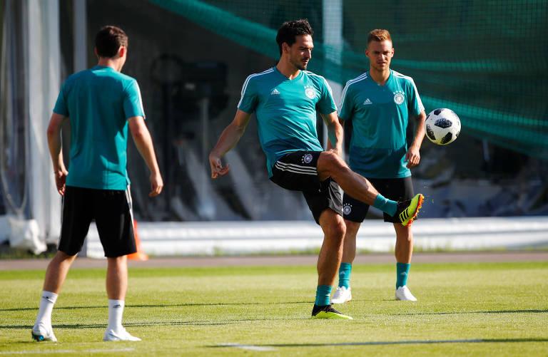 Treino da Alemanha na véspera da estreia na Copa