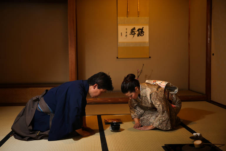A cerimônia japonesa do chá