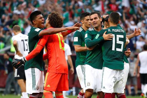 Surpresa, México impõe derrota à Alemanha campeã mundial