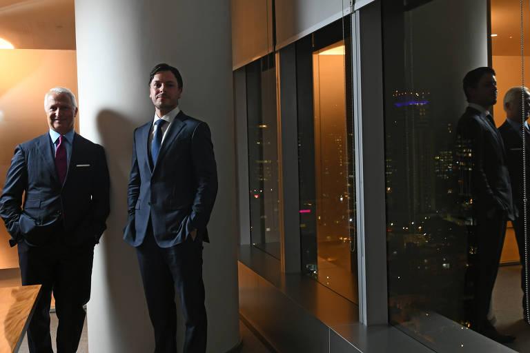 James Amine e Bruno Fontana, da área de banco de investimentos do Credit Suisse