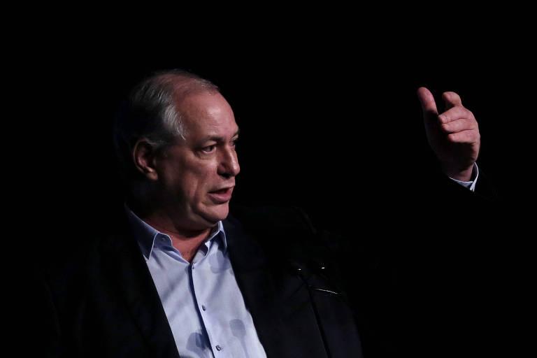 O pré-candidato à Presidência pelo PDT, Ciro Gomes, fala durante encontro da Unica