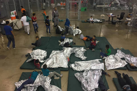 A view of inside U.S. Customs and Border Protection (CBP) detention facility shows children at Rio Grande Valley Centralized Processing Center in Rio Grande City, Texas, U.S., June 17, 2018. Picture taken on June 17, 2018.   Courtesy CBP/Handout via REUTERS   ATTENTION EDITORS - THIS IMAGE HAS BEEN SUPPLIED BY A THIRD PARTY. ORG XMIT: TOR301