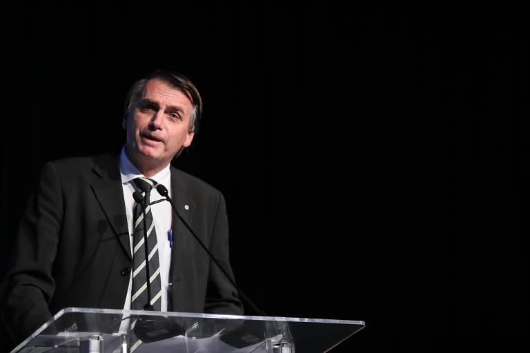 Jair Bolsonaro durante evento em São Paulo
