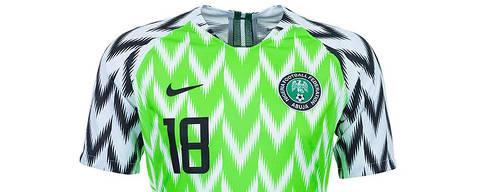 Confira as camisas das 32 seleções da Copa que serão utilizados na Rússia - Nigéria DIREITOS RESERVADOS. NÃO PUBLICAR SEM AUTORIZAÇÃO DO DETENTOR DOS DIREITOS AUTORAIS E DE IMAGEM